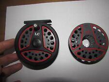 V good vintage leeda LC100 trout fly fishing reel  + spool 3.+ 3/5ths .. .