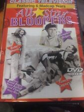 Classic TV  All Star Bloopers. (DVD) Featuring (6) madcap years.