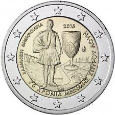 """2015 Greece 2 Euro Uncirculated Coin """"Spyridon Louis 75 Years"""""""