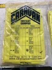 Caravan Canopy Side Wall Kit - Yellow 10'x20' walls only