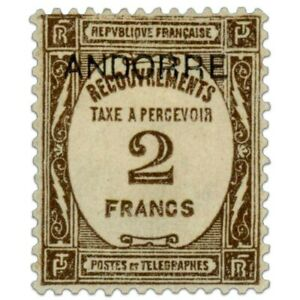 ANDORRE FRANÇAIS TAXE N°14, TIMBRE NEUF*1931-32
