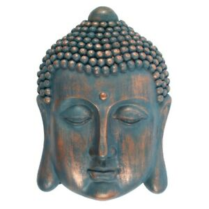 Buddha Head Plaque Latex Mould to create this Mindful Wall Ornament Concrete