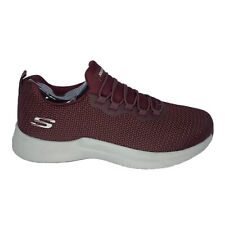 Skechers Shoes Men's Size 9 Red Burgundy Nwob Factory Sample Mesh Lace Up Active