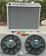 for 1960-1965 Cadillac Deville 3 rows aluminum radiator & fan*2 brand new