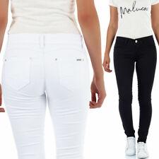 Malucas Damen Skinny Jeans Hose Röhrenjeans Röhrenhose Hüftjeans Röhre Stretch