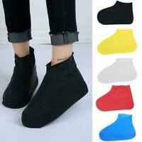 Waterproof Rain Shoe Covers Traveling Outdoor Reusable Rubber Boot Non-slip Y7E9
