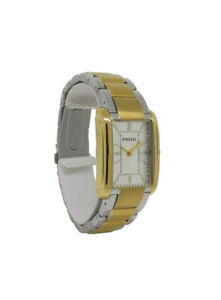 Fossil PR5422 Women's Analog Rectangular Roman Numeral Stainless Steel Watch