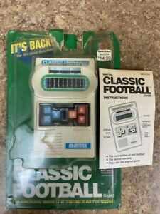 2000 Mattel Classic Football Electronic Hand Held Game With Original Packaging