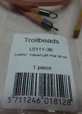"""Retired Trollbeads Leather Bracelet Yellow/Light Pink 14.2"""" or 36cm NEW L5111-36"""