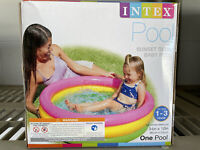 """Intex Sunset Glow Baby Swimming Pool Multicolored Inflatable 34"""" X 10"""" NEW"""