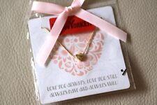 collier perles dorées + pendentif coeur glissant NEW YORKER  - neuf - cadeau