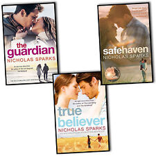 Nicholas Sparks 3 Books Collection Set The Guardian, Safeheaven True Believer BN