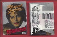 1984 Topps Michael Jackson 1st series red lip rare single Wax Pack