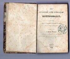 new italian and english dictionary b-   milan 1844 -printed by pirotta end co.