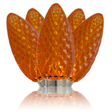 Christmas Lights - Orange C9 Led Faceted Bulbs (Box of 25)