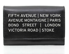 PERSONALISED CITY PARIS TEEN LADIES BLACK LEATHER PURSE WALLET BIRTHDAY GIFT