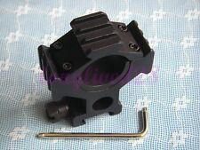 25 or 30mm Ring Scope/Flashlight Mount Weaver 20mm Rail with Tri- Rail M-007