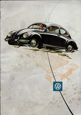 Volkswagen Beetle 1955-56 UK Market Sales Brochure Saloon De Luxe Convertible