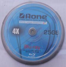 Auno Blu Ray Discos en Blanco Imprimible por toda la cara blanca 25 GB BD-R 10 Pack Spindle