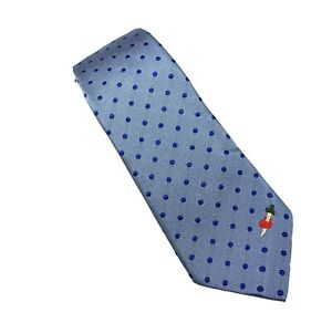 NEW GUCCI Blue Polka Dot Blue Men's Silk Tie 3""