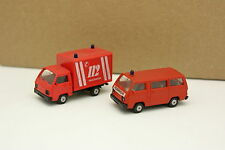 Rietze 1/87 HO - Lot de 2 Mitsubishi L300 Pompiers Feuerwehr