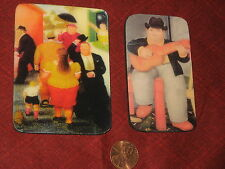 TWO Refrigerator Magnet Fat/Hevy/Gordos Botero's Sealed Images CoWorkers Gifts