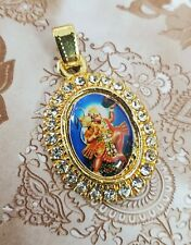 Hanuman Ji Hindu God Pendant Carrying Mountain Pendant With bead work USA seller