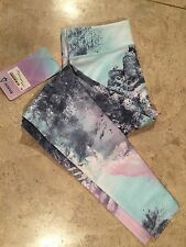 NWT IVIVVA by LULULEMON RYTHMIC TIGHT LIMITED EDITION CRYSTAL LANDSCAPES Size 8