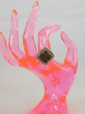 Utah Rhyolite Jasper RING Artisan Crafted Sterling Silver (sz 8) TGW 8.35 cts