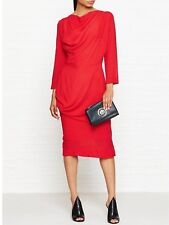 Vivienne Westwood Anglomania New Red Fond Dress -Size IT42/UK10