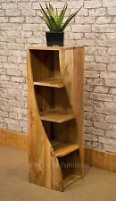 Solid Mango Wood Twisted Bookcase Storage Unit 29cm Square Mantis Twist B 110cm