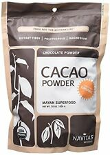 Navitas Natural Organic Cacao Powder Nutrition Bag Smoothies Baking Cake Pudding