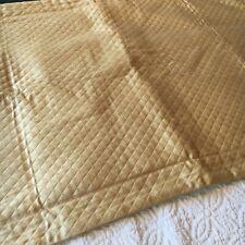 Restoration Hardware Diamond Matelasse Pillow Sham King Goldenrod Pearly Sateen