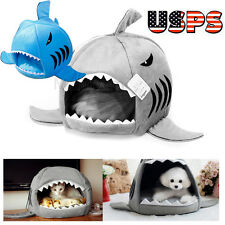 Pet Pad, Collapsible Indoor Pet Dog Puppy Cat Warm Shark House Bed Shelte USPS