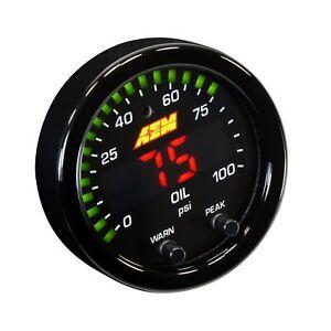 AEM Electronics 52mm X Series Oil / Fuel Pressure Digital LED Gauge Black