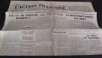 Journal Nationalist L Action Figure French 28 July 1934 N° 209 ABE