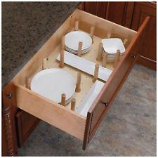 Kitchen Drawer Cabinet Storage Organizer Divider Holder Plate Dish Dinnerware