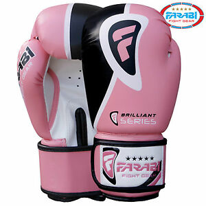 Pink Boxing Gloves Sparring Fitness Training Bag Pads Mitts