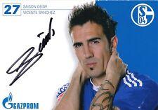 Vicente Sanchez  FC Schalke 04 2008/09 Fußball Autogrammkarte signiert 352778