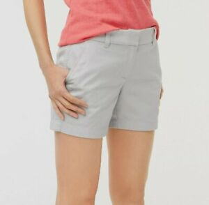 """J Crew Womens Size 4 - 5"""" Inseam Classic Chino Shorts - Oyster Grey - $40 - NWT"""