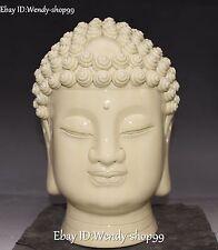 Marked Dehua Porcelain Shakyamuni Sakyamuni Amitabha Buddha Hand Bust Statue