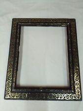 cadre napoléon 3 bois stuc noir doré feuillure 48 cm x 37 cm photo frame