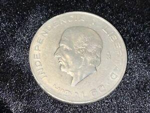 """1956 Diez (10) Pesos 900 Silver Coin - Hidalgo """"Independencia Y Libertad"""""""