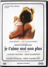 Dvd Je t'aime moi non plus (Io ti amo io nemmeno) Versione Integrale Usato raro