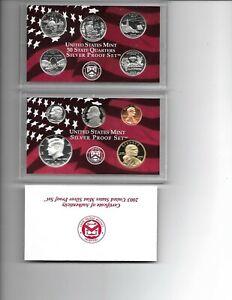 2003 US Mint SILVER Proof 10 Coins Set w Box & COA
