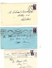 South  Africa  19  stamp covers   2 postage due 8 airmail 1936-67 (mb4