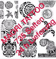 Tattoovorlagen Flash Dvd Maori/Polynesian 735 Seiten Top Neu als download
