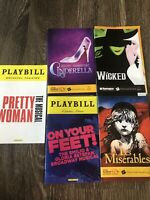 Broadway Tour Playbill Bundle- Wicked, Les Mis, Cinderella And MORE!
