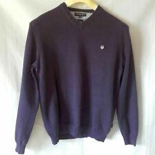 BASEFIELD Sport Element, Dunkelvioletter Pullover, reine Baumwolle Größe M
