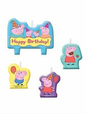 Peppa Pig Party Supplies Birthday Candles 4pc.